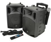 QTX PAV8 Portable PA Set with UHF Mics, Bluetooth & DVD