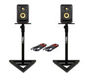 KRK V4S4 (Pair) with Monitor Stands & Cables