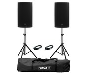 Mackie Thump 12A V4 (Pair) with Stands & Cables