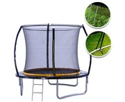 KANGA 8ft Trampoline with Enclosure & Ladder