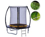Kanga 6ft Trampoline With Enclosure, Ladder And Anchor Kit