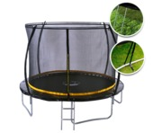 Kanga 10ft Trampoline With Enclosure, Ladder And Anchor Kit