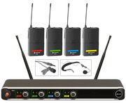 Chord NU4-N Quad UHF Wireless Microphone System