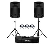 Behringer Eurolive B15X (Pair) with Stands & Cables