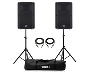 Yamaha DBR12 Speaker (Pair) with Stands & Cables