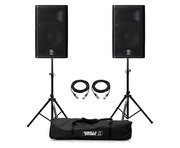 Yamaha DXR8 Speaker (Pair) with Stands & Cables