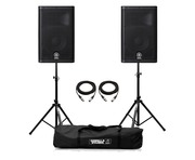Yamaha DXR10 Active Speaker (Pair) with Stands & Cables