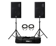 Yamaha DXR15 Speaker (Pair) with Stands & Cables