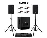 Yamaha DXR8 (Pair) & DXS12 MK2 with Stands & Cables