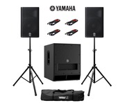Yamaha DXR12 (Pair) & DXS15 MK2 with Stands & Cables