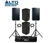 Alto TS315 (Pair) with Stands, Covers & Cables
