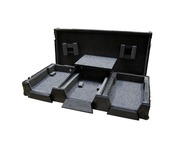"Total Impact  CDJ2000 & 12.5"" Mixer Coffin Flight Case inc Laptop Shelf Black"