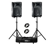 FBT JMaxX 110A (Pair) with Stands & Cables