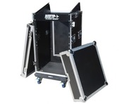 Total Impact 16U/10U Mixer Rack Inc Laptop Slide And Wheels
