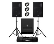 Yamaha DXR15 mkII (Pair) & DXS15 mkII with Stands & Cables