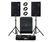 Yamaha DXR15 mkII (Pair) & DXS18 with Stands & Cables