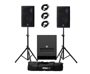 Yamaha DXR8 MK2 (Pair) & DXS12 MK2 with Stands & Cables