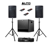 Alto TX212 (Pair) & TX212S with Stands & Cables