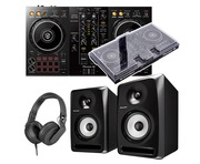 Pioneer Dj DDJ-400 + S-DJ50X with Decksaver & Headphones