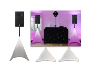 Gorilla White Tripod DJ PA Speaker Stand Lighting Scrim Screens PAIR