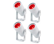 LEDJ Event Spot Rapid RGBW Wireless (White) x4