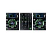 Denon DJ SC5000 (Pair) &  Denon DJ X1800 Mixer
