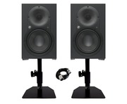 Mackie XR824 Studio Monitors (Pair) with Desktop Stands & XLR Cable