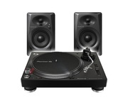 Pioneer DJ PLX-500 Essential Vinyl Package with DM-40 Speakers