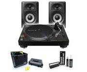 Pioneer DJ PLX-500 Deluxe Vinyl Package with DM-40BT Bluetooth Speakers