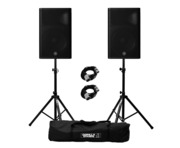Yamaha DXR15 MkII (Pair) with Stands and Cables