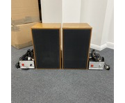 Ex BBC Rodgers LS 5/9 Studio Monitors with HH Electronics AM 8/12 Amplifiers Pair