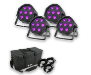 Equinox MaxiPar Quad (x4) with Carry Bag + Cables