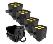 Chauvet EZLink Par Q4 BT (x4) with Chauvet CHS-40 Bag