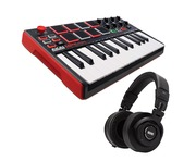 Akai Professional MPK Mini MK2 and Rane RH-2 Bundle