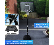 NET1 Attack Youth Basketball Hoop & Stand