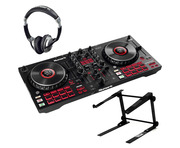 Numark Mixtrack Platinum FX with Headphones & Laptop Stand