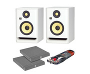 KRK RP8 G4 White Noise (Pair) w/ Isolation Pads + Cable