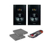 Adam Audio T8V Studio Monitors with Isolation Pads + Cable