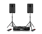 RCF Art 310-A MK4 Speaker (Pair) with Stands & Cables