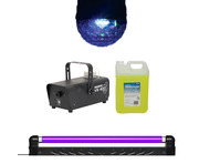 Moonglow + UV Blacklight with Smoke Machine + 5L Fluid