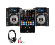 Pioneer CDJ-900NXS (x2) + DJM-S11 with Headphones + Cable