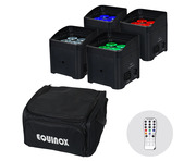 Equinox Colour Raider Lithium Battery Uplighter Kit