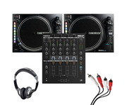 Reloop RMX-44 BT + RP-8000 MK2 (Pair) with Headphones + Cable