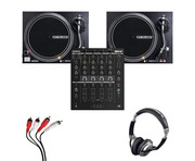 Reloop RMX-44 BT + RP-4000 MK2 (Pair) with Headphones + Cable