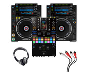 Pioneer CDJ-2000 NXS2 (Pair) + DJM-S11 with Headphones + Cable