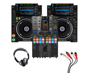 Pioneer CDJ-2000 NXS2 (Pair) + DJM-S11 SE with Headphones + Cable