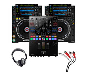 Pioneer CDJ-2000 NXS2 (Pair) + DJM-S9 with Headphones + Cable