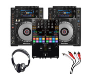 Pioneer CDJ900 Nexus (Pair) + DJM-S7 with Headphones + Cable