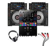 Pioneer CDJ-900 Nexus (Pair) + DJM-S9 with Headphones + Cable
