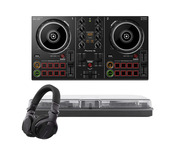Pioneer DDJ-200 with Headphones + Decksaver